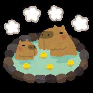 親子で柚子風呂